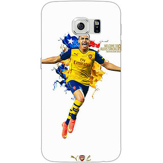 Jugaaduu Arsenal Back Cover Case For Samsung S6 Edge - J600511