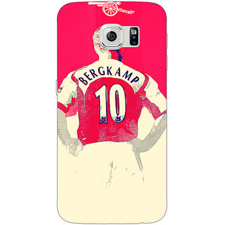 Jugaaduu Arsenal Dennis Bergkamp Back Cover Case For Samsung S6 Edge - J600513