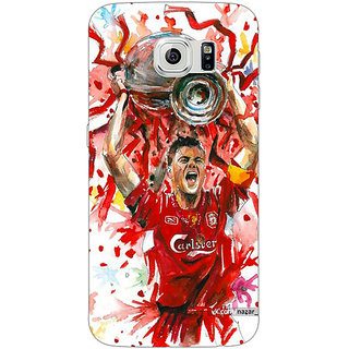 Jugaaduu Liverpool Gerrard Back Cover Case For Samsung S6 Edge - J600550