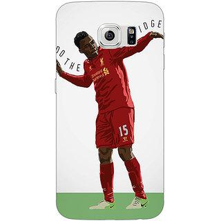 Jugaaduu Liverpool Sturridge Back Cover Case For Samsung S6 Edge - J600552