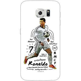 Jugaaduu Real Madrid Ronaldo Back Cover Case For Samsung S6 Edge - J600586