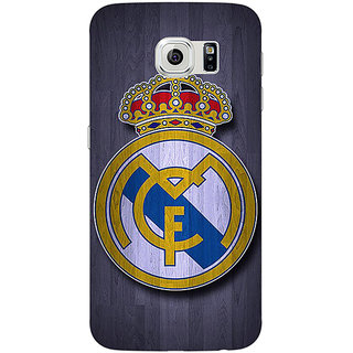 Jugaaduu Real Madrid Back Cover Case For Samsung S6 Edge - J600589