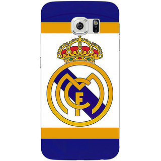Jugaaduu Real Madrid Back Cover Case For Samsung S6 Edge - J600594