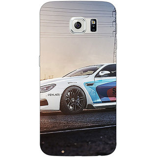 Jugaaduu Super Car BMW Back Cover Case For Samsung S6 Edge - J600626