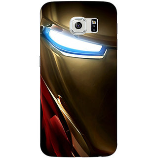 Jugaaduu Superheroes Ironman Back Cover Case For Samsung S6 Edge - J600860