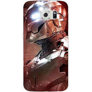 Jugaaduu Superheroes Ironman Back Cover Case For Samsung S6 Edge - J600865