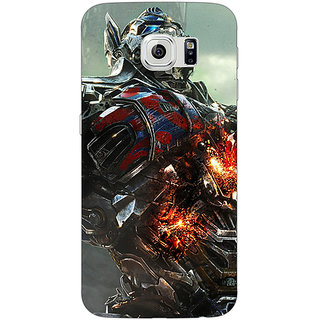 Jugaaduu Transformers Optimus Prime Back Cover Case For Samsung S6 Edge - J600887