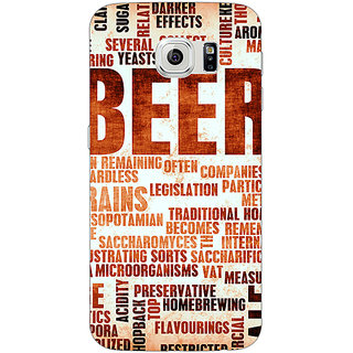 Jugaaduu Beer Quote Back Cover Case For Samsung S6 Edge - J601242