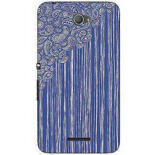 Jugaaduu Beauty Curtains Pattern Back Cover Case For Sony Xperia E4 - J620239