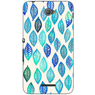 Jugaaduu Blue Leaves Pattern Back Cover Case For Sony Xperia E4 - J620254