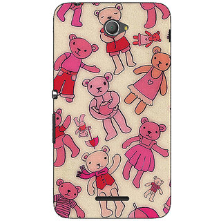 Jugaaduu Teddy Pattern Back Cover Case For Sony Xperia E4 - J620263