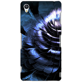 Jugaaduu Abstract Flower Pattern Back Cover Case For Sony Xperia M4 - J611519