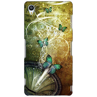 Jugaaduu Abstract Butter Fly Pattern Back Cover Case For Sony Xperia M4 - J611525
