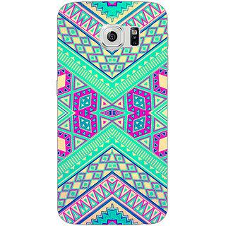 Jugaaduu Floral Pattern  Back Cover Case For Samsung S6 Edge - J600669