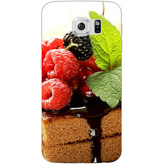 Jugaaduu Berry Cake Back Cover Case For Samsung S6 Edge - J600682