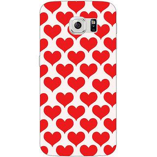 Jugaaduu Hearts Back Cover Case For Samsung S6 Edge - J600703