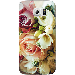 Jugaaduu Roses Back Cover Case For Samsung S6 Edge - J600721