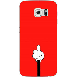 Jugaaduu Mickey Mouse Back Cover Case For Samsung S6 Edge - J601391
