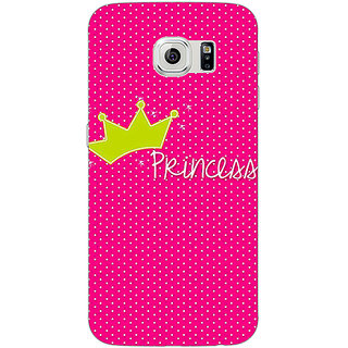 Jugaaduu Princess Back Cover Case For Samsung S6 Edge - J601400
