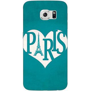 Jugaaduu Paris love Back Cover Case For Samsung S6 Edge - J601404
