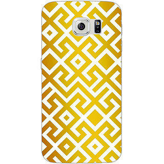 Jugaaduu Geometric Pattern Back Cover Case For Samsung S6 Edge - J601418