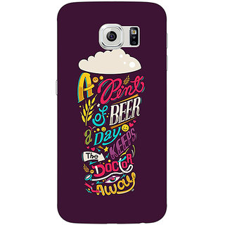 Jugaaduu Beer Quotes Back Cover Case For Samsung S6 Edge - J601438
