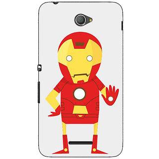 Jugaaduu Superheroes Iron Man Back Cover Case For Sony Xperia E4 - J620329