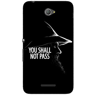 Jugaaduu LOTR Hobbit Gandalf Back Cover Case For Sony Xperia E4 - J620359