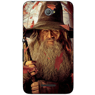 Jugaaduu LOTR Hobbit Gandalf Back Cover Case For Sony Xperia E4 - J620360