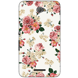 Jugaaduu Floral Pattern  Back Cover Case For Sony Xperia E4 - J620659