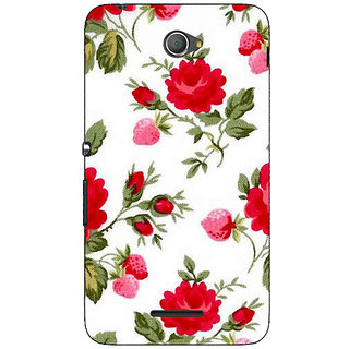 Jugaaduu Floral Pattern  Back Cover Case For Sony Xperia E4 - J620662