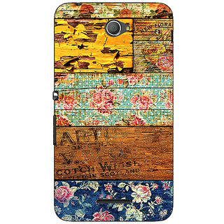 Jugaaduu Floral Pattern  Back Cover Case For Sony Xperia E4 - J620674