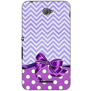 Jugaaduu Anchor Pattern  Back Cover Case For Sony Xperia E4 - J620786