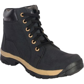 George Adam Mens Black Lace-Up Boot