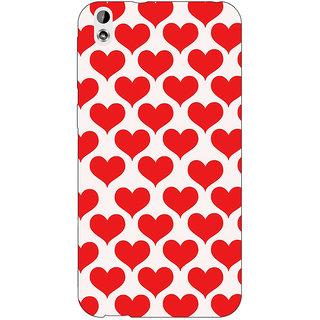Jugaaduu Hearts Back Cover Case For HTC Desire 816 Dual Sim - J1060703