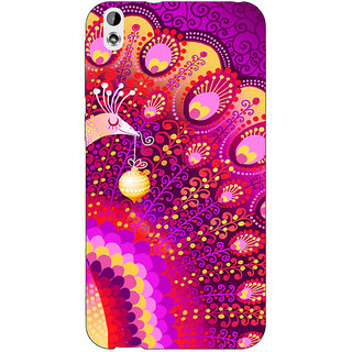 Jugaaduu Tribal Peacock Back Cover Case For HTC Desire 816 - J1050803