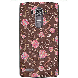 Jugaaduu Soft Roses Pattern Back Cover Case For LG G4 - J1100240