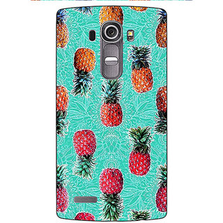 Jugaaduu Pineapple Pattern Back Cover Case For LG G4 - J1100246