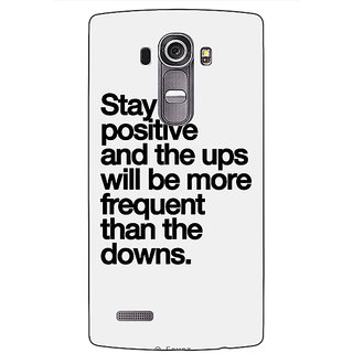 Jugaaduu Quotes Back Cover Case For LG G4 - J1101187