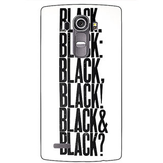 Jugaaduu Black Quotes Back Cover Case For LG G4 - J1101199