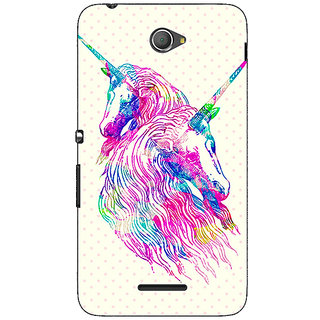 Jugaaduu Unicorn  Back Cover Case For Sony Xperia E4 - J620610