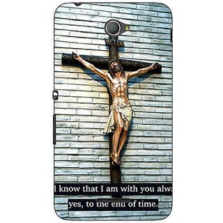 Jugaaduu Jesus Christ Back Cover Case For Sony Xperia E4 - J621268