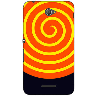 Jugaaduu Hippie Psychedelic Back Cover Case For Sony Xperia E4 - J621272
