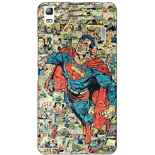 Jugaaduu Superheroes Superman Back Cover Case For Lenovo K3 Note - J1120038