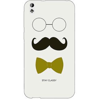 Jugaaduu Mustache Back Cover Case For HTC Desire 816 Dual Sim - J1060757