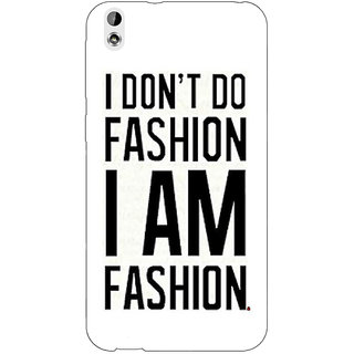 Jugaaduu Fashion Quote Back Cover Case For HTC Desire 816G - J1071428