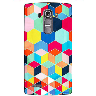 Jugaaduu Multicolour Hexagon Pattern Back Cover Case For LG G4 - J1100286