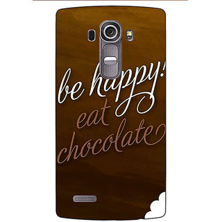 Jugaaduu Chocolate Quote Back Cover Case For LG G4 - J1101330