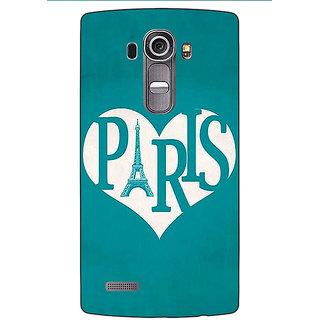 Jugaaduu Paris love Back Cover Case For LG G4 - J1101404