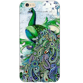 Jugaaduu Paisley Beautiful Peacock Back Cover Case For Apple iPhone 6S Plus - J1091591